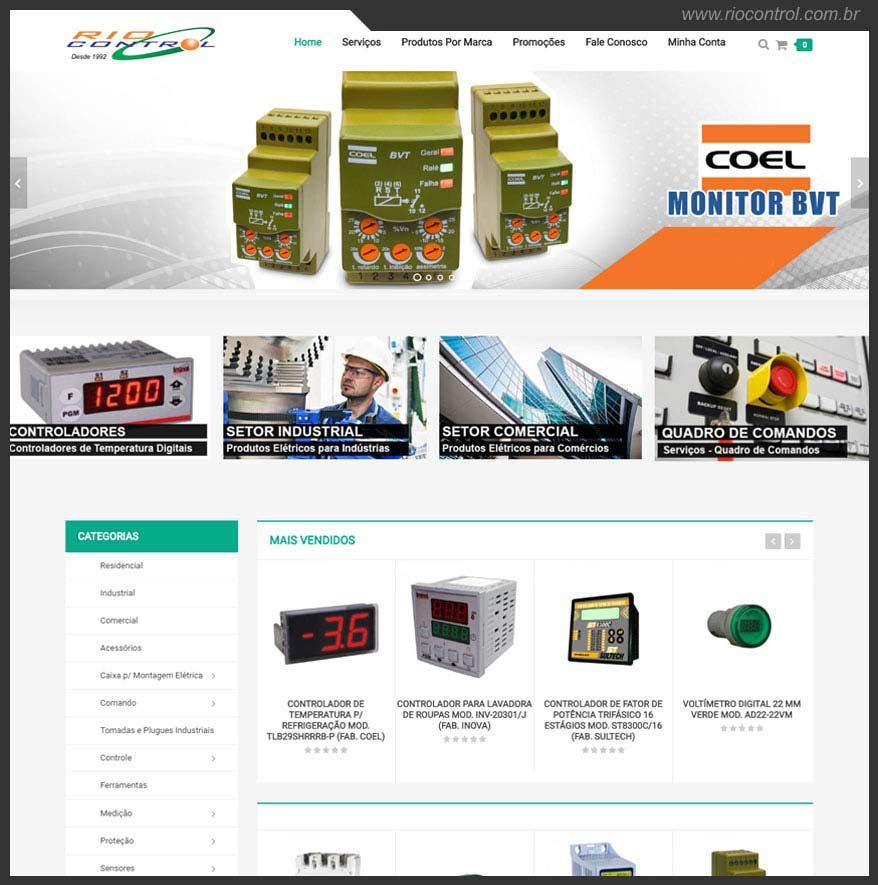 Criação de Loja Virtual para Produtos Elétricos